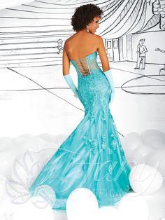 "Tiffany Designs #16020 Prom 2014 shown in ""Mermaid"""
