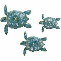 Amazon.com: Wall Decor Sea Turtle 3/Set (10,8 & 6) - Regal Art #S599: Home & Kitchen