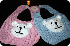 Teddy Bear Bibs Set by CheekeemonkeeStore on Etsy Polar Bear, Teddy Bear, Teething Bibs, Sweater Set, Baby Sweaters, Baby Bibs, Baby Knitting, Baby Shower Gifts, Children