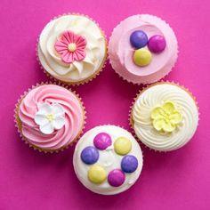 Delicious colourful cupcakes!