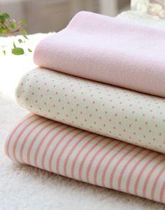 Organic Cotton Interlock Knit Baby Pink Polka Dot or by landofoh, $25.20