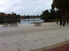 Disney world caribean resort beach right next to are holtel