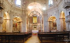 The 1755 Earthquake in Lisbon, Portugal Portugal, Church Interior, Next Door, Beautiful Interiors, One And Only, Lisbon, Baroque, Most Beautiful, Castle