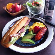 朝ご飯  プロシュートとレタスのサンド☆(•́✧•̀●) - @stillaban- #webstagram
