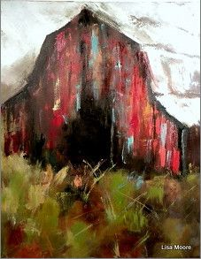 42 ideas for farmhouse wall paper red Acrylic Painting Canvas, Painting On Wood, Painting & Drawing, Canvas Art, Barn Art, Guache, Palette, Watercolor Paintings, Barn Paintings