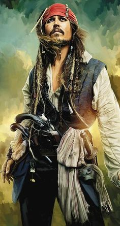 Johnny Depp Paintings Painting - Pirates Of The Caribbean Johnny Depp Artwork 1 by Sheraz A