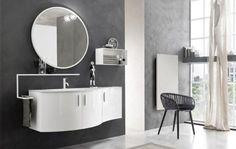 idées salle de bains meubles-originaux-collection-Start-miroir-rond-chaise
