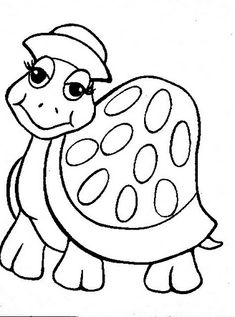 Coloring Page - Free Turtle Coloring Pages Turtle Coloring Pages, Animal Coloring Pages, Coloring Book Pages, Coloring Pages For Kids, Coloring Sheets, Applique Patterns, Applique Quilts, Turtle Quilt, Anne Geddes