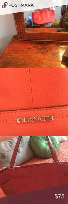 Coach purse Orange leather....only carried a few times! Bought at TJ Max for $150.00 Coach Bags Satchels
