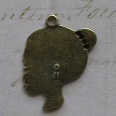 5 pcs Antique Bronze Woman Head Charm by SandraSupplies on Etsy, $2.85