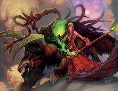 World of Warcraft Blood elf warlock