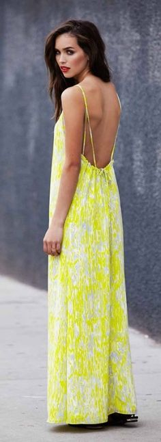 Yellow Maxi Dress ♥ Carolina Sanchez See more of our style at www.sistersinthesand.com!