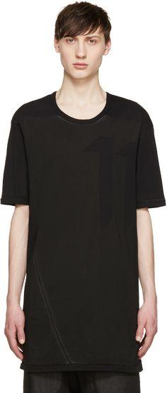11 by Boris Bidjan Saberi - Black Bias Logo T-Shirt