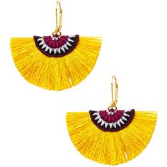 Shashi Women's Luna Statement Earrings - Yellow ($25) ❤ liked on Polyvore featuring jewelry, earrings, yellow, shashi, yellow jewelry, long earrings, yellow earrings and shashi jewelry