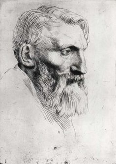 A portrait of Rodin by his friend Alphonse Legros