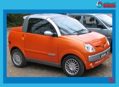 The orange Aixam Scouty R front. Electric Car Conversion, Kei Car, Microcar, Smart Fortwo, Weird Cars, Smart Car, City Car, Car In The World, Car Humor