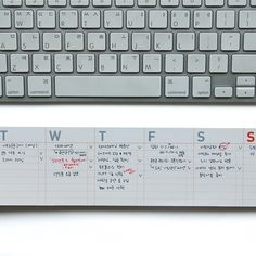 poketo desk-it weekly calendar. Calendar Pad, Weekly Calendar, Desktop Calendar, Desk Calendars, Weekly Menu, Weekly Planner, Calendar Organization, Organizing Ideas, Mini Keyboard