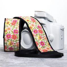 Floral Camera Strap, Primrose 17 One of my most poplar straps, fits dslr, slr or mirrorless cameras