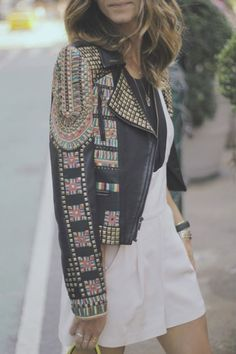 the LA native: embroidered coat