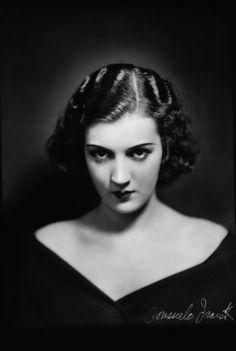 Gabriel Figueroa. Retrato de la actriz Consuelo Frank México 1932