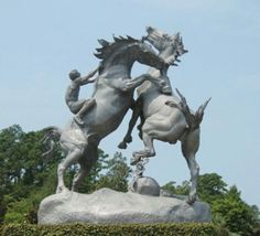 Brookgreen Gardens These horses are at the entrance of Brookgreen Gardens.