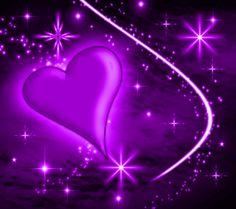 Purple Heart | Background Wallpaper Image: Purple Heart With Plasma Stars Background ...
