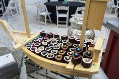 "At the Ritz-Carlton South Beach in Florida, the catering team surprises guests at social functions with a ""sushi cupcake"" setup. The station presents the whimsical cakes on a boat-like stand.   Photo: Courtesy of Ritz-Carlton South Beach"