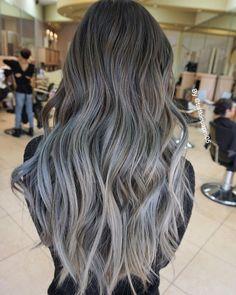 CHARCOAL BLUE GREY  #olaplex @olaplex #hairslut #hairporn #hairstyle #angelofcolour #modernsalon #hairdresser #bebesalon #behindthechair #americansalon #colorcorrection #colormelt #hairpainting #longhair #silverhair #love #blondehair #platinumblonde #whiteblonde #icyblonde #grannyhair #GuyTangKenra #balayage #ombre #colorist #haircolor #greyhair #MetallicObsession #silverblonde #platinumblonde