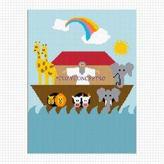 NOAHS ARK BABY CROCHET AFGHAN CROSS STITCH PATTERN GRAPH .PDF | CozyConcepts - Patterns on ArtFire