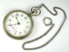 I imagine that Treves would carry around a pocket watch with him. This pocket watch would be convenient as it doesn't need to be clicked to open. You simply take it out and look at the time. Very convenient for Treves.