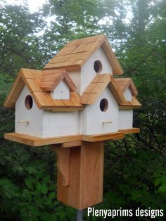 4 nest bird house. Birdhouse.