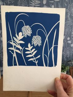 drypoint etching printmaking cyanotype made from papercut fritillaries and real grasses by hannah nunn Linocut Prints, Art Prints, Block Prints, Drypoint Etching, Cyanotype, Collagraph, Linoprint, Motif Floral, Chalk Pastels