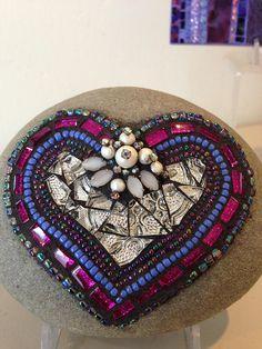 Mosaic Heart Rock Rock of Love