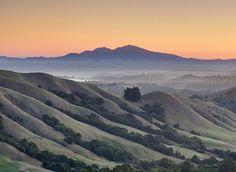 Mt Diablo Dawn by D.H. Parks  Looking east from the Bay Area Ridge Trail near Tilden Park, Berkeley