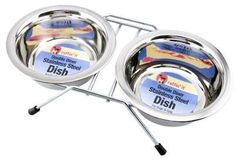 Westminster Pet Products 19416 Double Diner Pet Bowl Stainless Steel 16oz  Quantity 6 * Continue to the product at the image link.