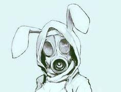 Gas mask tyvek bunny