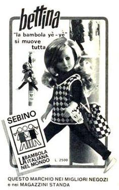 Bettina mod. yè yè pubblicità