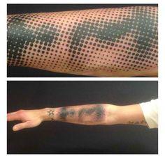 Unique halftone tattoo