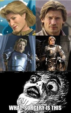 Shrek's Prince Charming vs Game of Thrones' Jamie Lannister - I thought the EXACT same thing when I was watching the show