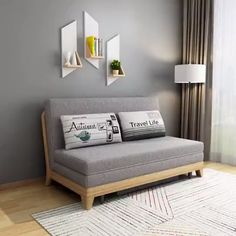 39 Impressive Small Futon Design Ideas For Small Bedroom - This article talks about good bedroom furniture available in unconventional places like garage sales and flea markets. Furniture has become the high p. Sofa Bed Design, Living Room Sofa Design, Home Room Design, Bed Frame Design, Sofa Bed With Storage, Sofa With Bed, Day Bed Sofa, Bedroom With Sofa, Bed Frame Storage