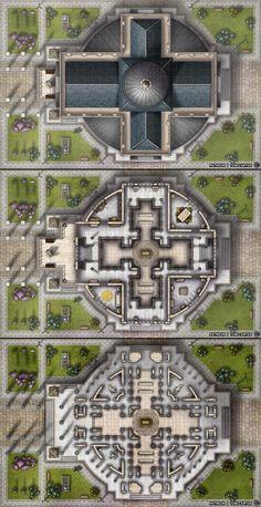 Fantasy Battle, Fantasy City, Fantasy House, Fantasy Map, Game Master, Dnd World Map, Pathfinder Maps, Building Map, Dnd 5e Homebrew
