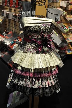 Dress created out of DCWV paper!~ So makes me want the Black Currant Stack! It's pretty!