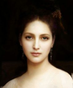 I wish he could paint my portrait. Portrait Painting by William Adolphe Bouguereau French Neoclassical Master// William Adolphe Bouguereau, L'art Du Portrait, Digital Portrait, Woman Portrait, Art Plastique, Love Art, Art History, Amazing Art, Art Photography