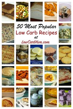 Low carb diet benefits include weight loss, lowered cholesterol, and reduced risk for diabetes. Here's a list of 50 low carb LCHF keto recipes to get you started.