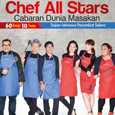 Chef All Stars | Cabaran Dunia Masakan  https://www.thebigrooms.com/index.php?route=product/product&product_id=127&tracking=55955109e3020  #thebigrooms #AsiaCreativeWork #Chef #Book #Food #Cooking