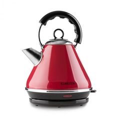 Red Cordless Electric Kettle By Klarstein Liter Water Boiler Stainless Steel Properties, Retro, Water Boiler, Aqua, Cozy Aesthetic, Kitchen Machine, Cord Storage, Electric