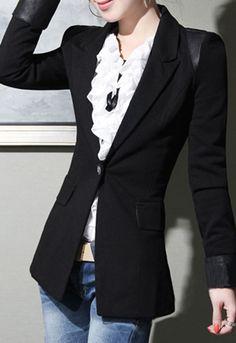 One Button Suit Blazer