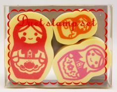 Matryoshka Russian Doll Rubber Stamps
