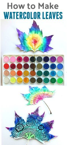 How to Make Watercolor Leaf Art: Process art perfect for fall!