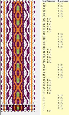 24 tarjetas, 4 colores, secuencias de 6B-6F // sed_278 diseñado en GTT༺❁